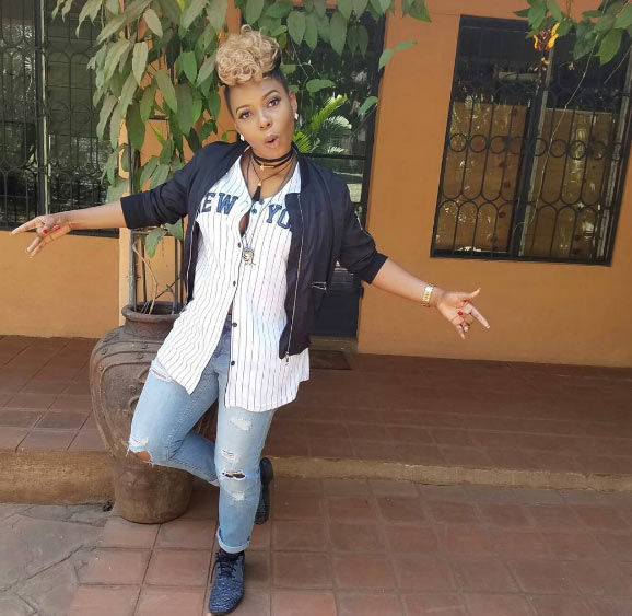 Singer Yemi Alade steps out in tomboy outfit