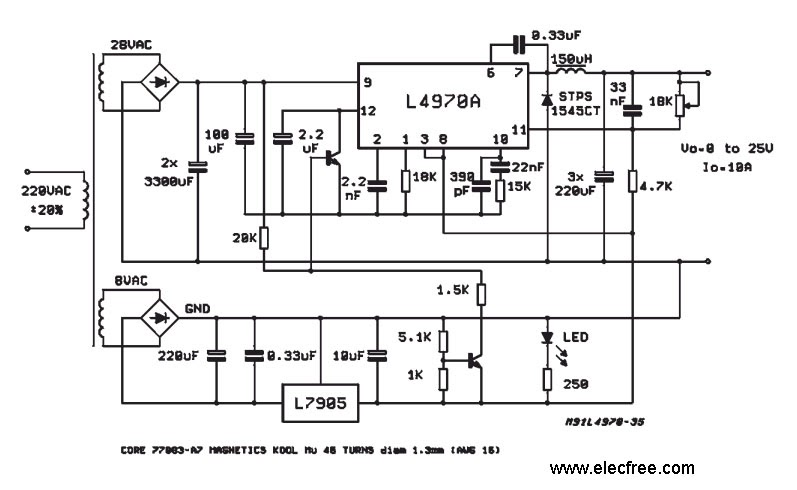 Variable Switching Regulator Circuits Ic Schematics