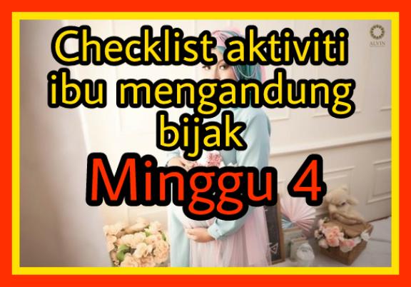 Checklist ibu mengandung minggu 4