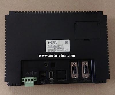 Hình ảnh chi tiết mặt sau màn hình Hmi HCFA TL1370-WTFT