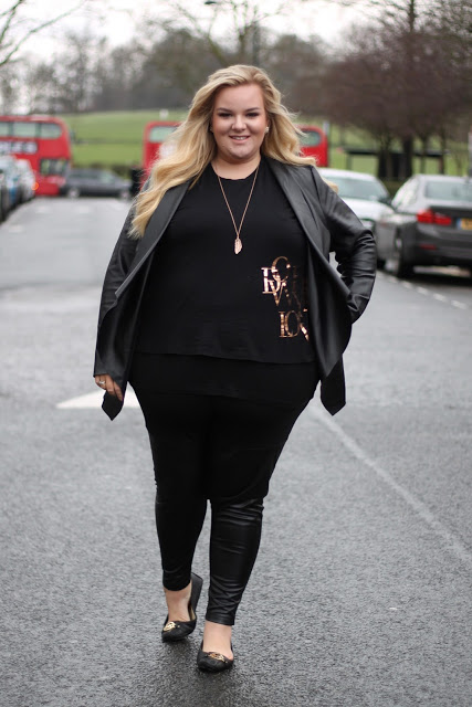 ASOS Plus Size Leggings in PU and Ponte Blogger What Laura Loves WhatLauraLoves