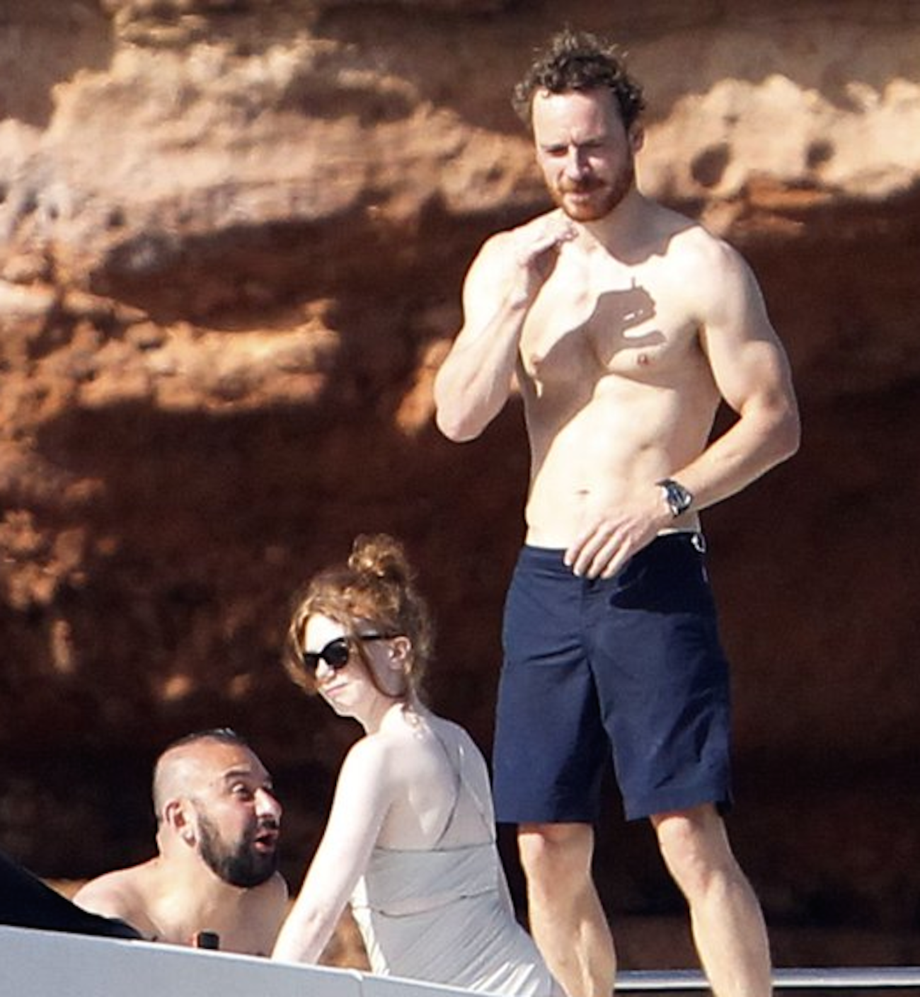 My New Plaid Pants Michael Fassbender Is On A Boat-9453
