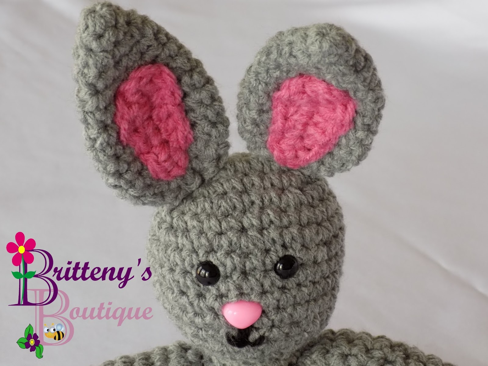 Britteny Off the HOOK!!: Snuggly Pal - Bunny Stuffed Animal Crochet ...