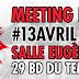 13 avril : meeting parisien 1er tour social !