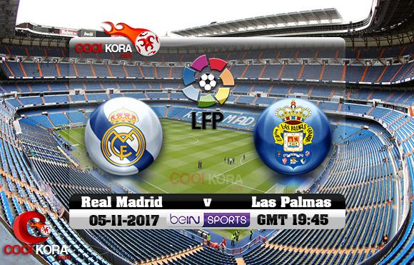 مشاهدة مباراة ريال مدريد ولاس بالماس اليوم 5-11-2017 في الدوري الأسباني