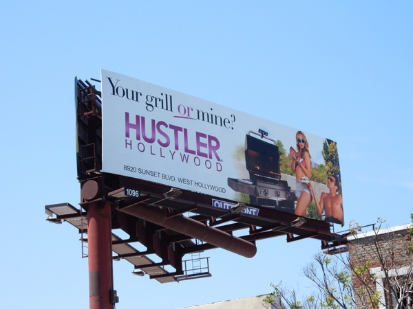 Hustler Hollywood Your grill or mine billboard