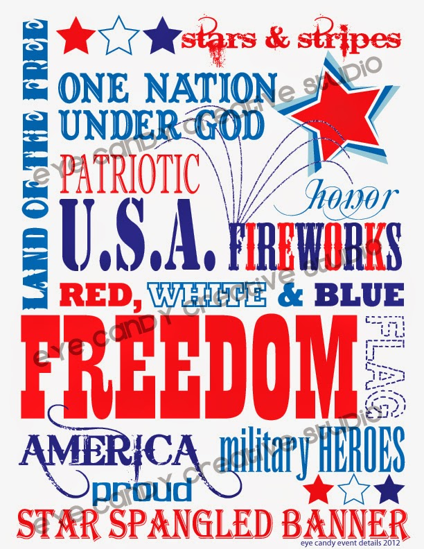 memorial day subway art, patriotic art, free 4th art, free download, red white & blue