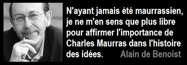Alain de Benoist - Charles Maurras - Nouvelle Ecole