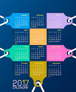 2017カレンダー無料テンプレート232