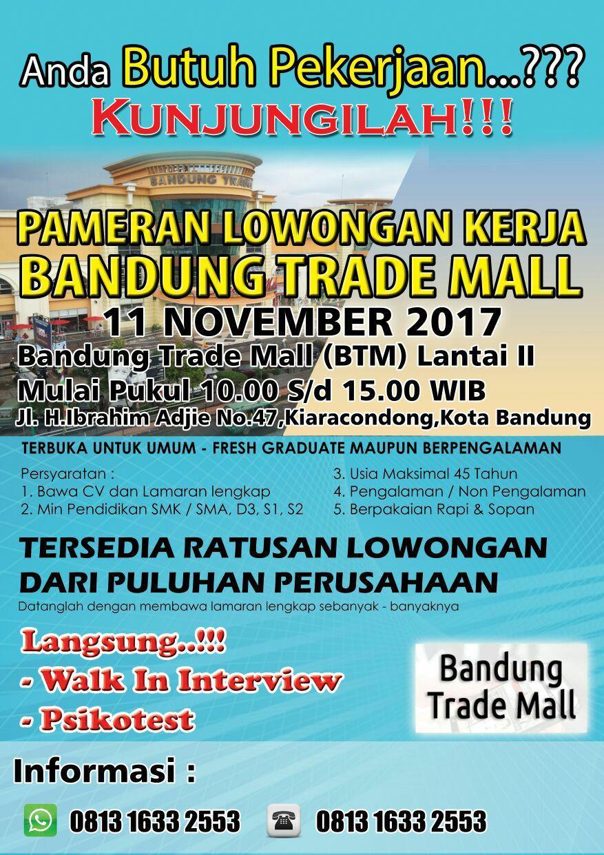 Jobfair Bandung Trade Mall width=