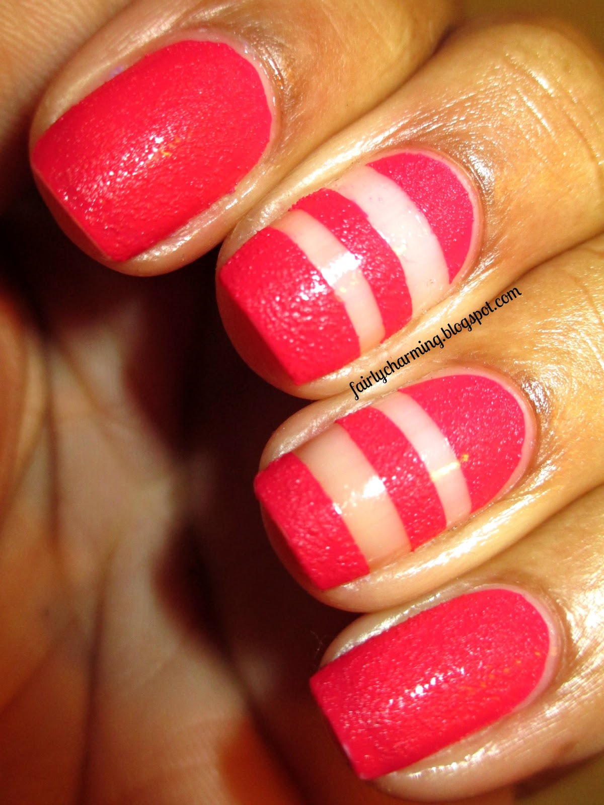 Fairly Charming A Christmas Eve Inspiration: Fairly Charming: Bump & Grind Tape Mani