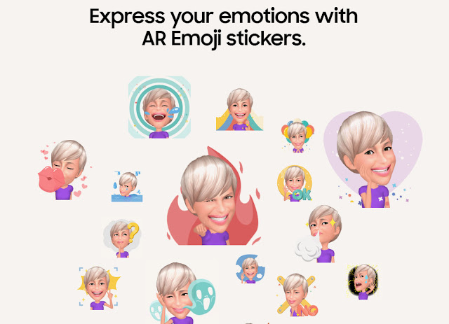 With the new Samsung Galaxy S9/S9+ you can express your emotions with AR Emoji Stickers