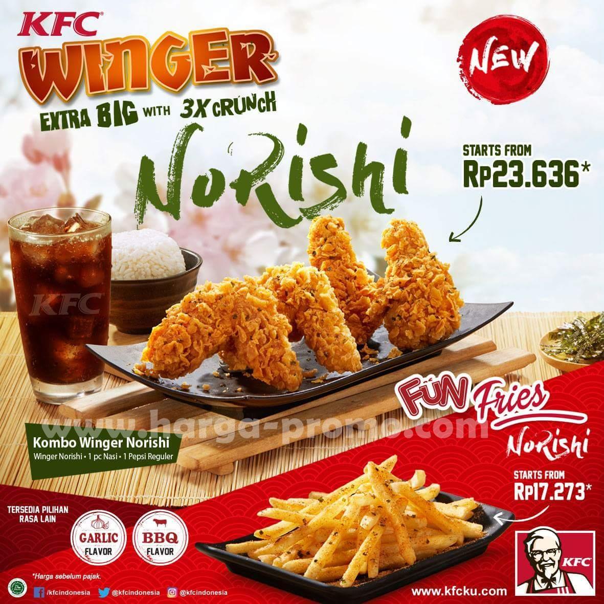 Promo KFC Terbaru Menu Baru Paket KFC Winger Norishi mulai ...