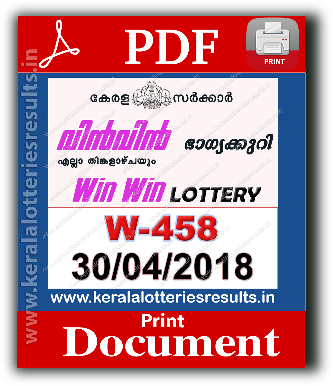 Kerala Lottery Result Chart 2015 Download