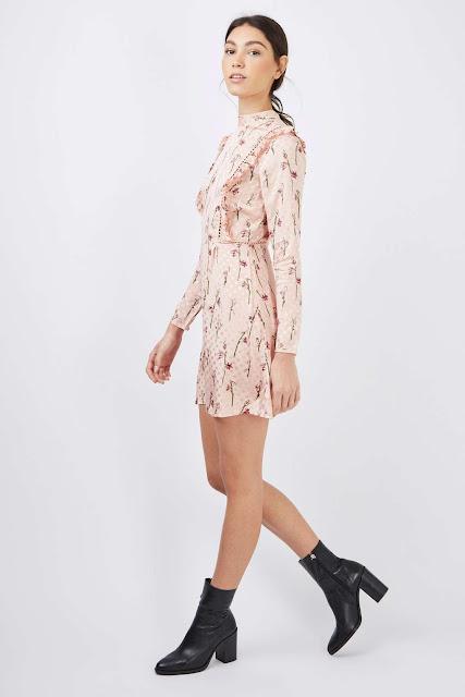 pink floral satin dress, pink frilly dress,