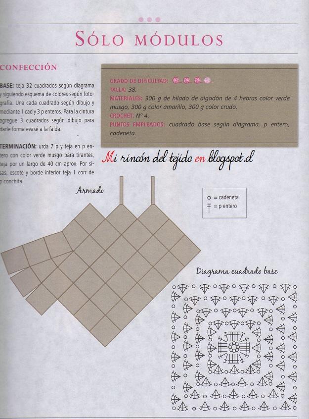 ❤ ✿ Mi Rincón del Tejido ✿ ❤: Vestido con cuadrados o grannys ...
