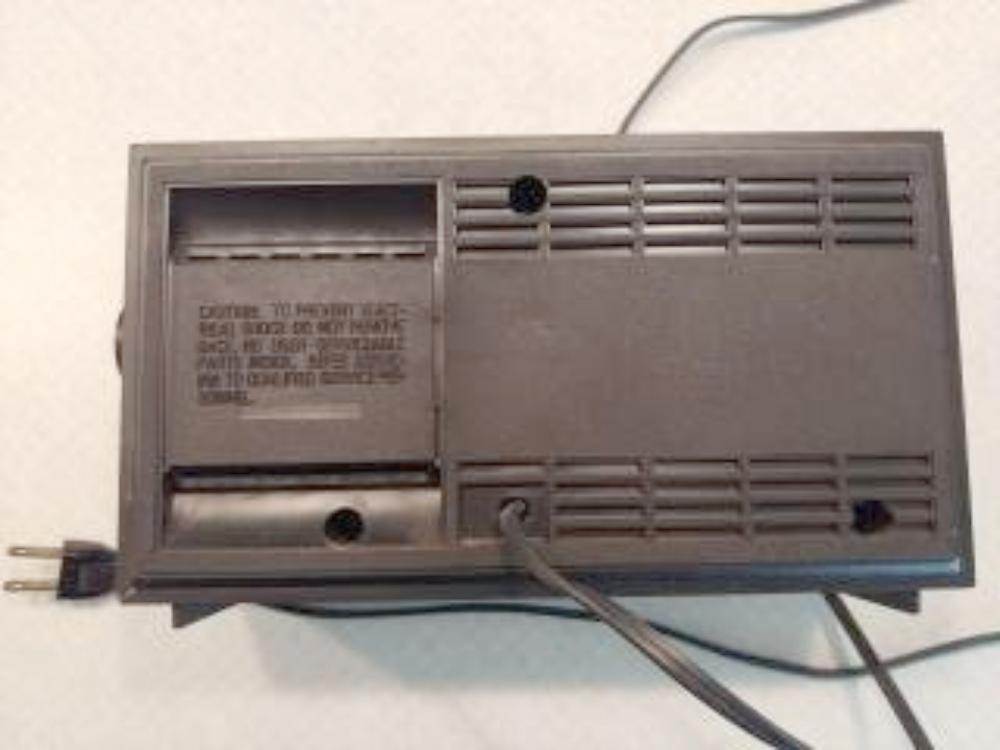vintage radio back