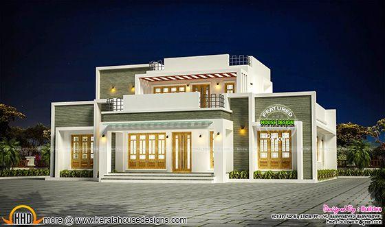2148 sq-ft flat roof house in Kollam, Kerala