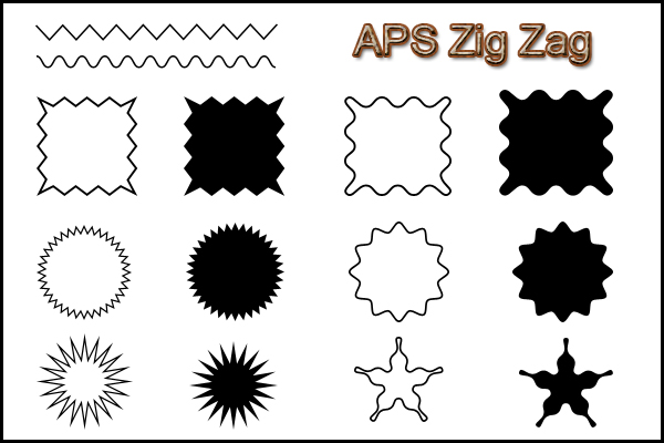 DesignEasy: Free Roughen and Zig Zag Custom Shapes for