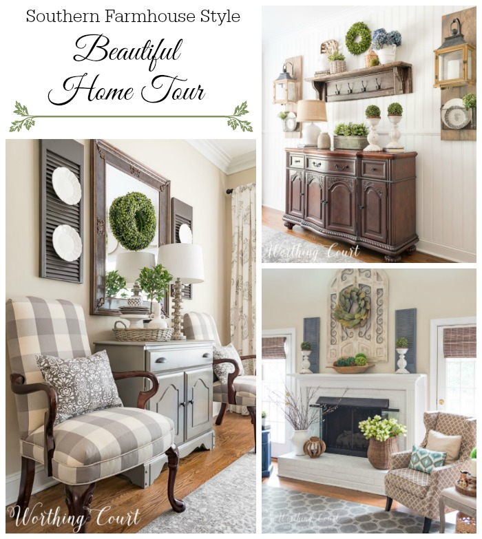 Tour this charming and beautifully decorated farmhouse style home