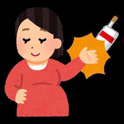 いろいろな禁煙のイラスト(妊婦・はねのける)