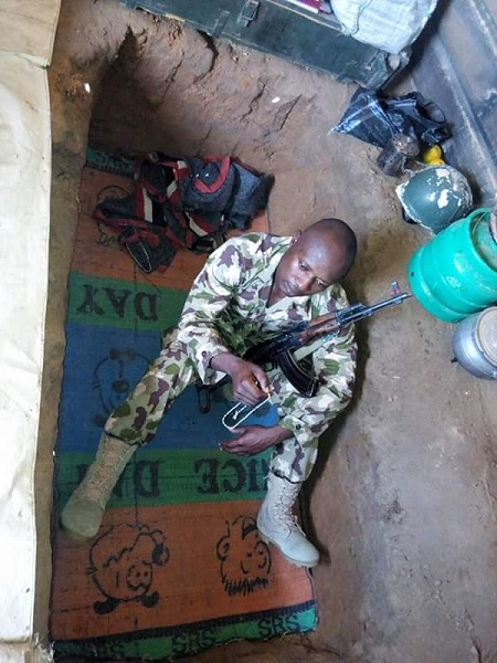 Meet Nigerian Soldier Who Lives In Grave Everyday In Borno Fighting Boko Haram