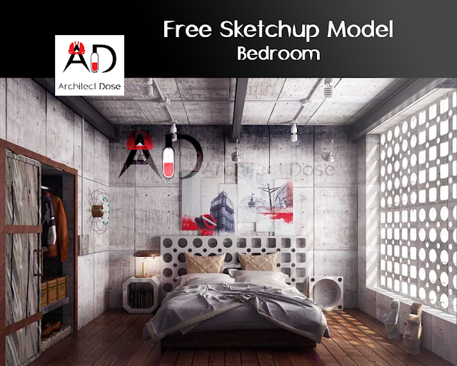 Free Sketchup Model - Bedroom