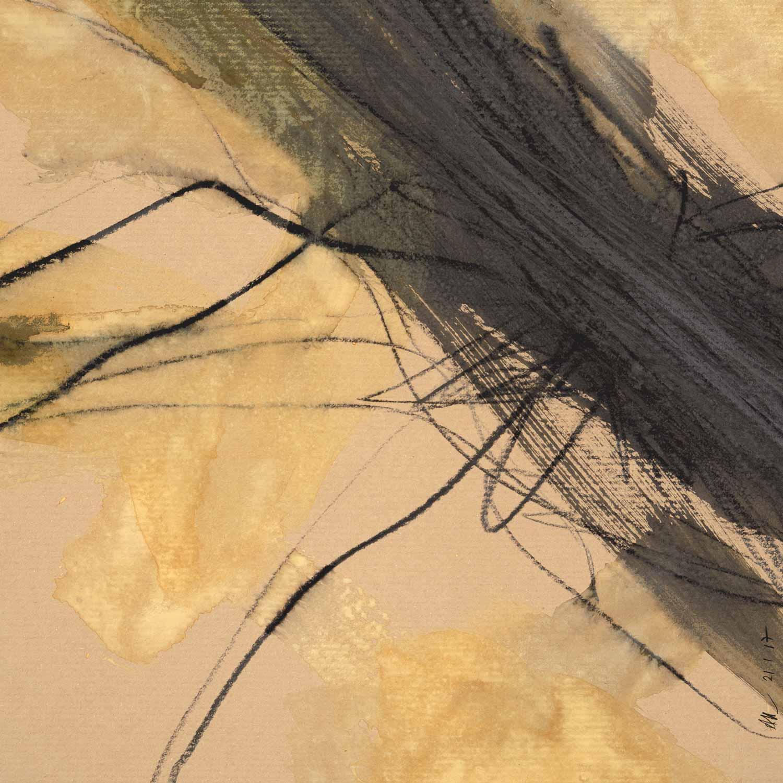 Annik Reymond - aquarelle graphite sur kraft