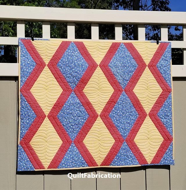 Diamond Ribs X-Block quilt