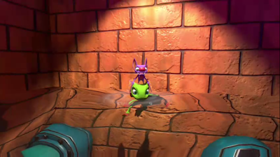 Yooka-Laylee swimming model head body Yooka water