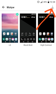 LG G5 pobieranie motywów