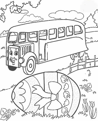 Free Coloring Pages: Preschool Easter Coloring Pages