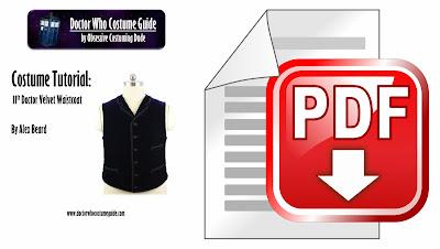 11th Doctor velvet waistcoat tutorial PDF