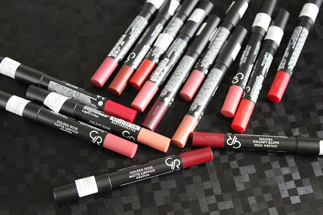 Golden Rose Matte Lipstick Crayon - sve nijanse