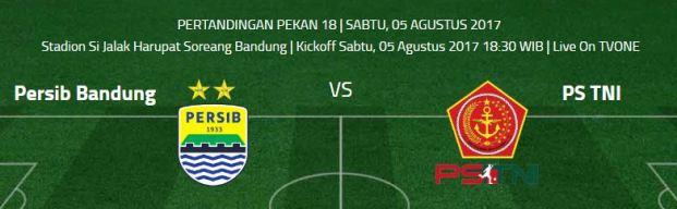 Prediksi Persib Bandung vs PS TNI  - Si Jalak Harupat Sabtu 5/8/2017
