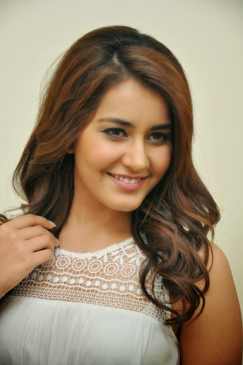 Rashi Khanna In White Dress At Movie Success Meet ❤