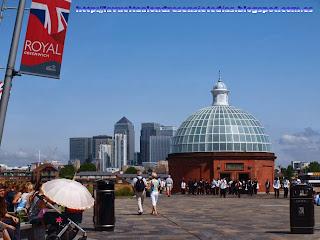 Vistas del barrio de Canary Wharf desde Greenwich
