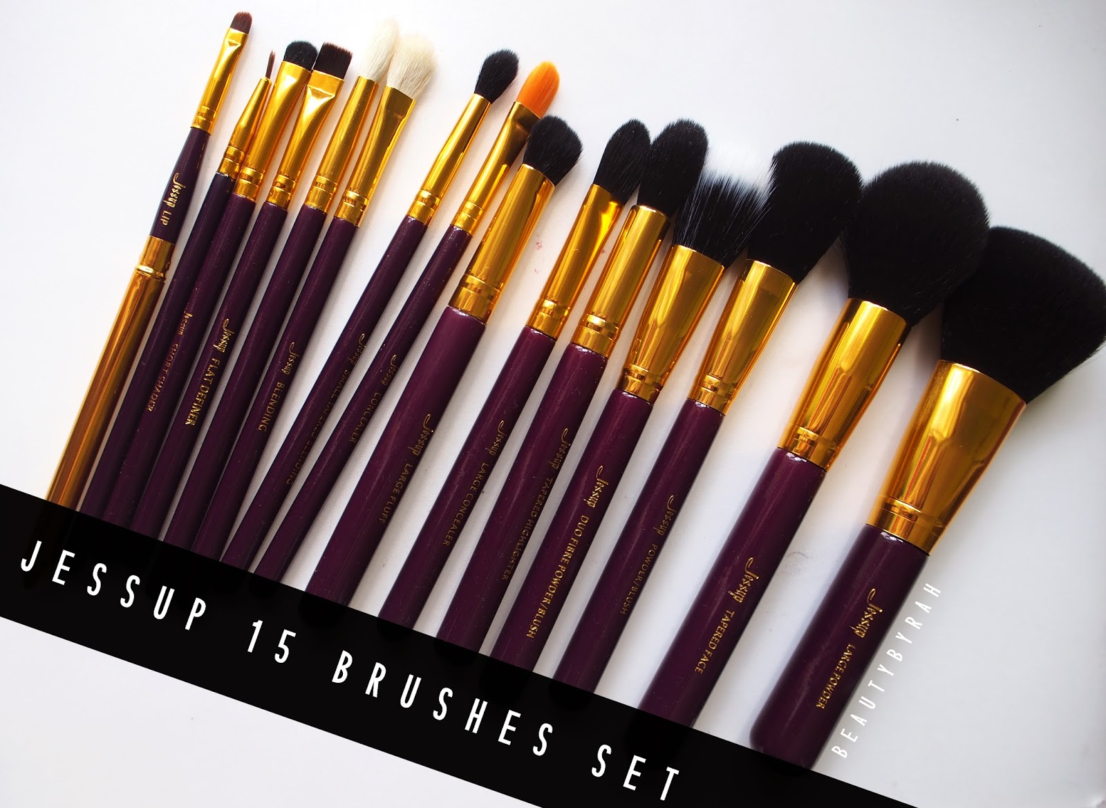 Jessup brushes review purple and gold 15 pieces brush set