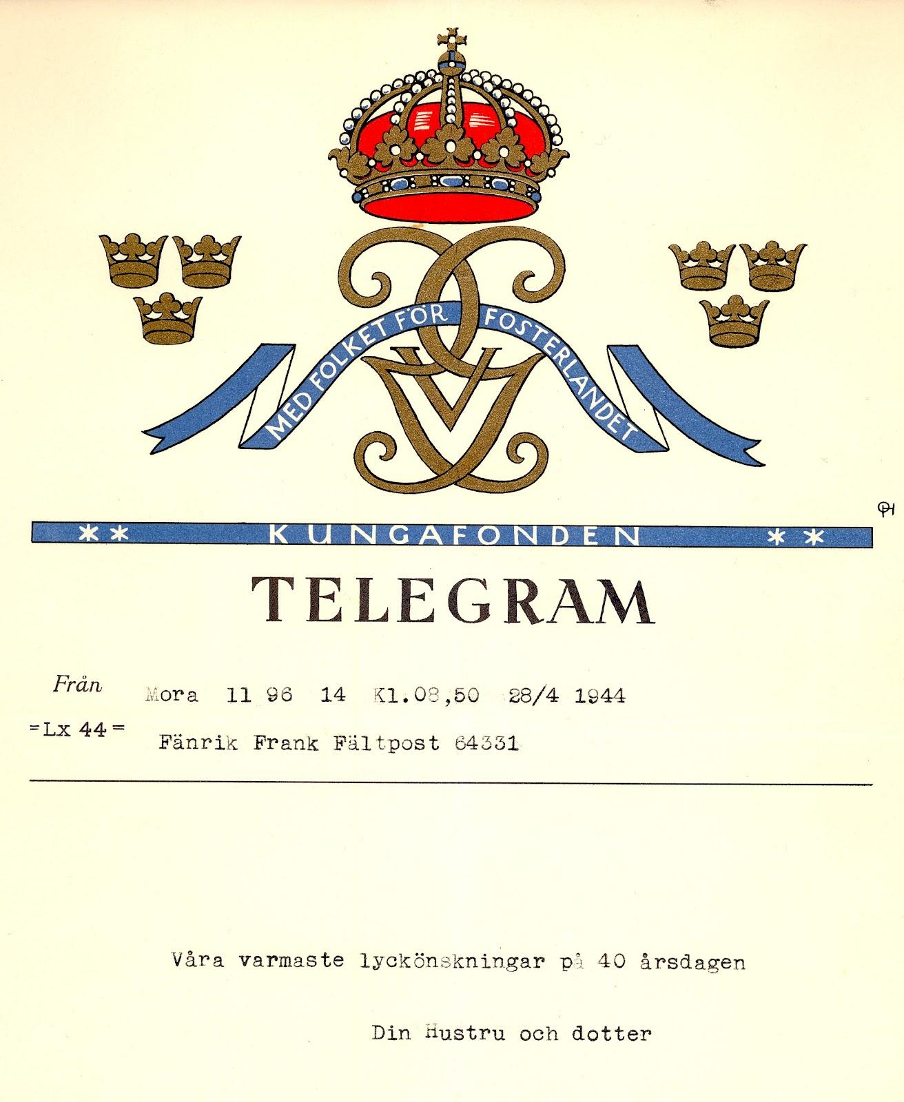 telegram 50 år r&c:s pensionärsliv: 2012 04 telegram 50 år