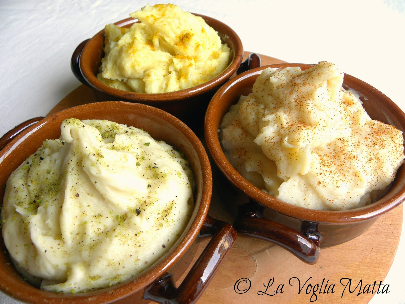purè di patate in tre varianti