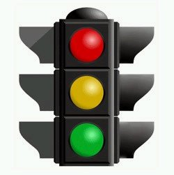 acidente de veículos e sinaleira com defeito