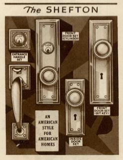 sears shefton door hardware vintage