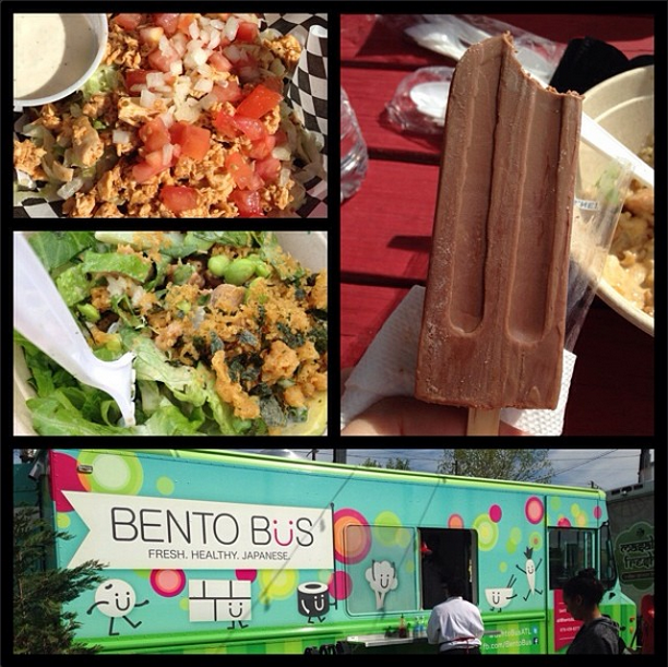 The Atlant Food Truck Park review Bento Bus King of Pops Spiedie Zone