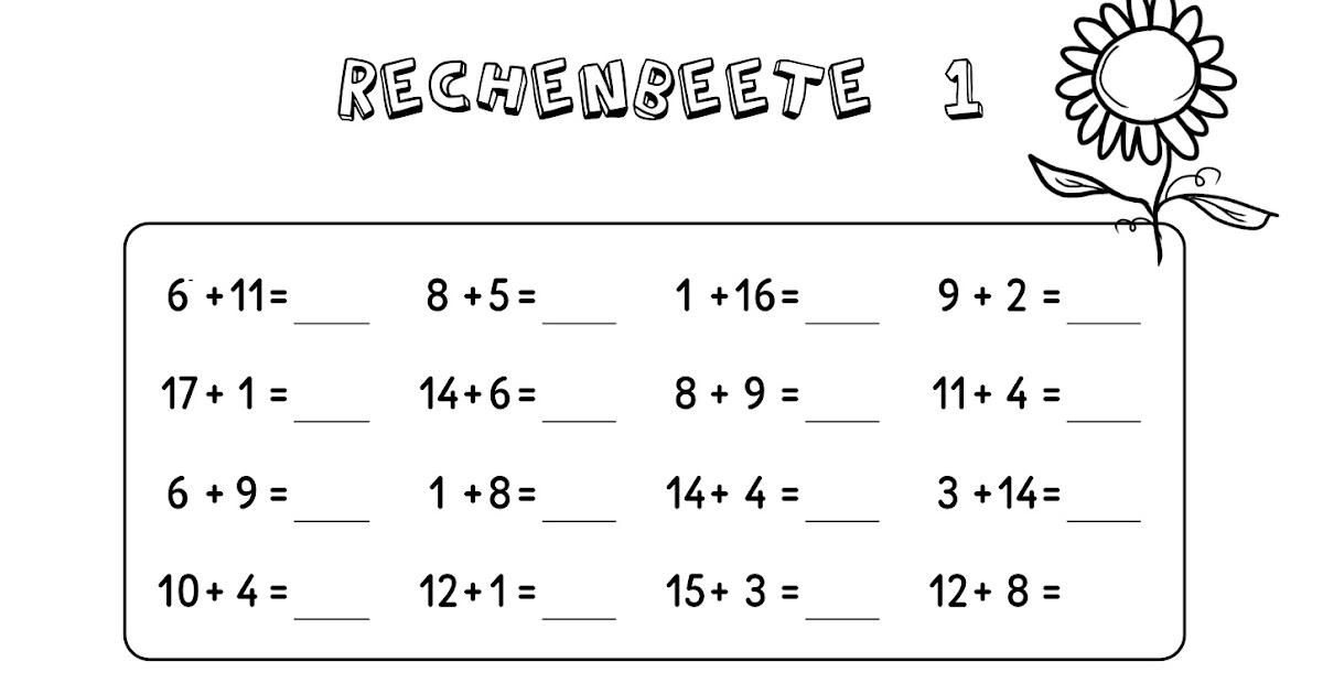 arbeitsblatt vorschule 187 mathe f252r 3 klasse 252bung