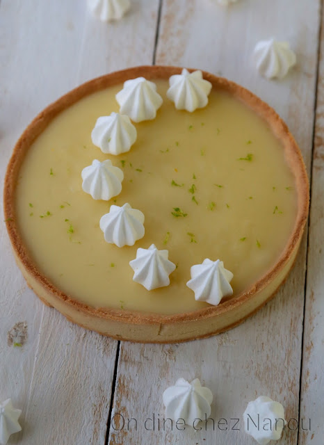 tarte citron , pâte sucrée , meringue , Christophe Adam , pâtisserie française
