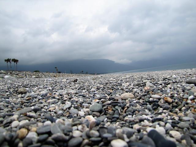 rock beach qixingtan beach hualien taiwan
