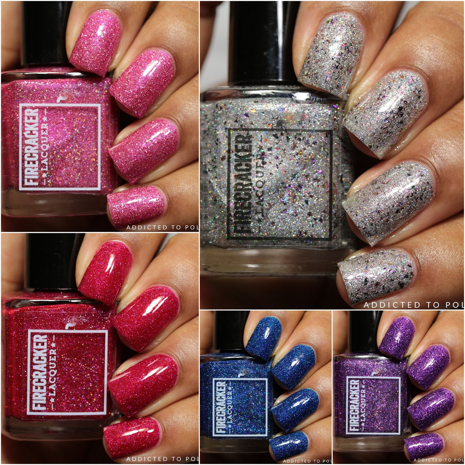Fire Cracker Lacquer Candle Salad Collection Swatches and Review
