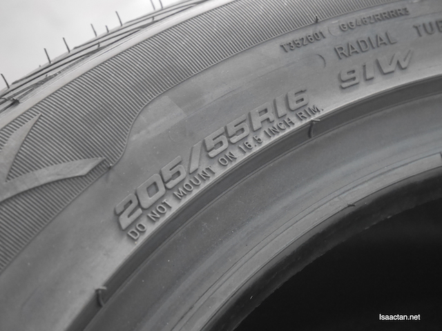 205/55/R16, the size of my tyre