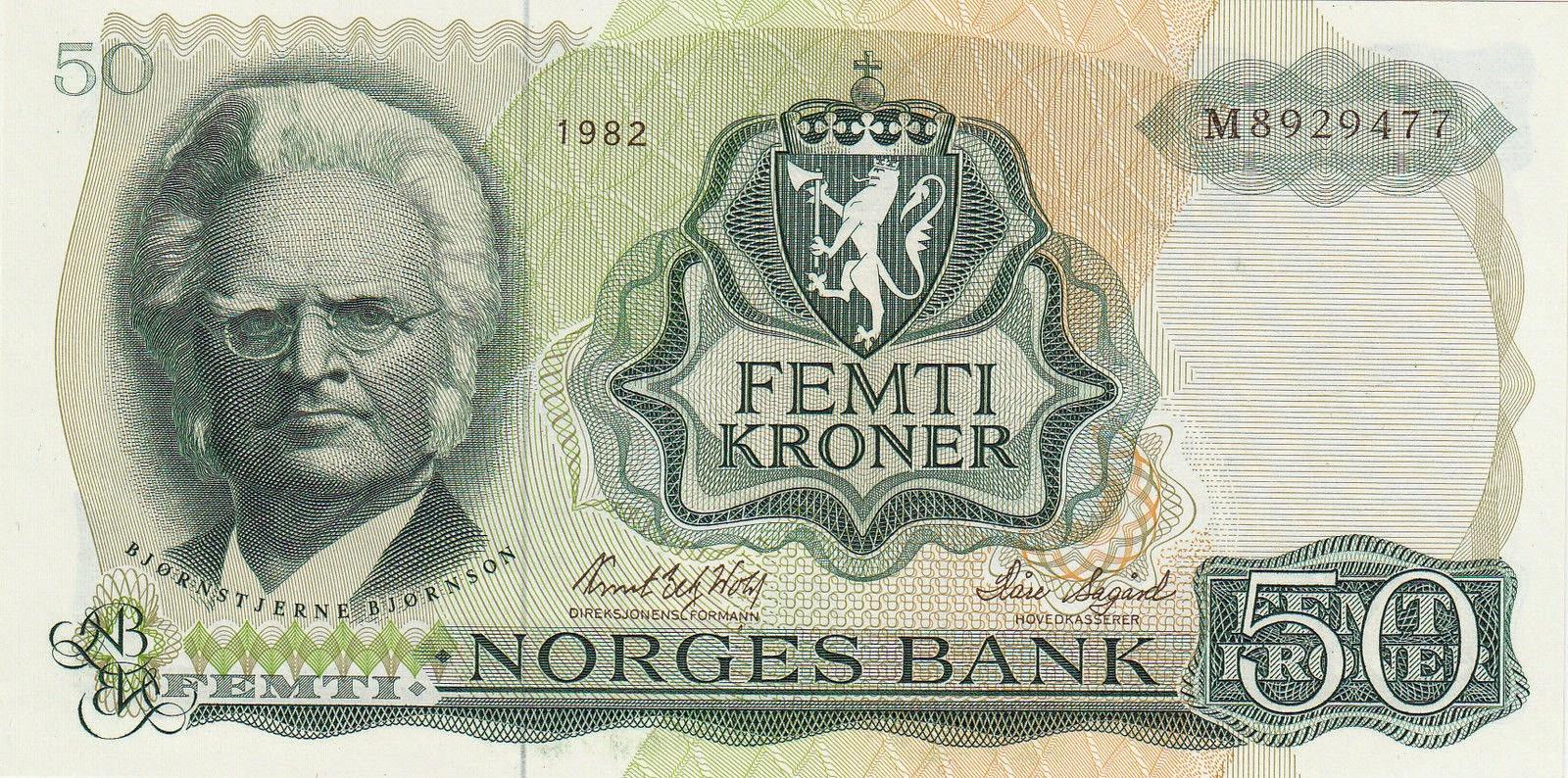 Norway Banknotes 50 Kroner banknote 1982