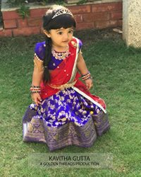 Benaras Half Saree by kavitha Gutta